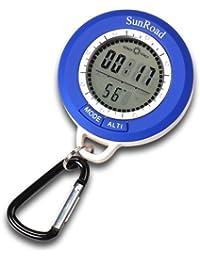 Sourcingbay - Altímetro digital con historial de altitud, barómetro, brújula, termómetro, previsión meteorológica con reloj digital
