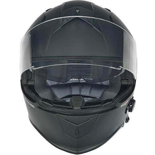 RT-770 Bluetooth Integralhelm Motorradhelm Integral Motorrad Quad Helm rueger, Größe:L (59-60), Farbe:Matt Schwarz - 2