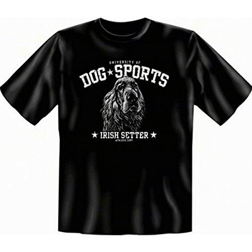 geil bedruckte T-Shirt mit Hunde Motiv / Irish Setter ! Schwarz