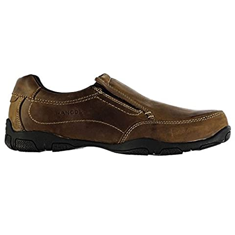 Kangol Mens Vine Slip On Shoes Stretch Panels Leather Cushioned Ankle Collar Crazy Horse UK 9 (43)
