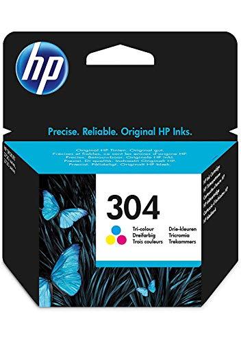 HP 304 Farbe Original Druckerpatrone für HP DeskJet 2630, 3720, 3720, 3720, 3730, 3735, 3750, 3760; HP ENVY 5020, 5030, 5032 -