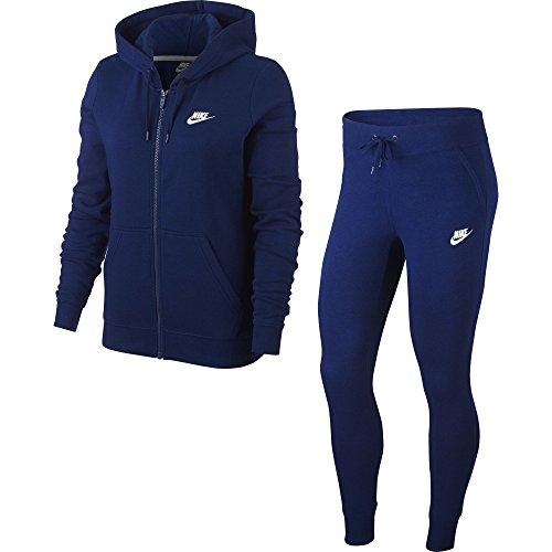 Nike W NSW TRK FLC Chándal, Mujer, Azul (Blue Void/White), S