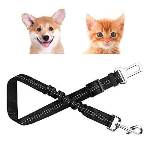 Hunde-Gurt fürs Auto | Maximale Sicherheit und hoher Komfort | Sicherheits-Gurt für Hunde | Anschnallgurt für Jede Hundeleine Geschirr | Alle Haus-Tiere Katzen | Elastisch und verstellbar