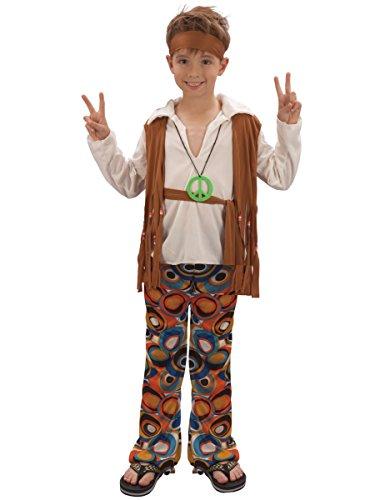 Generique Hippie-Kostüm für Jungen 140/152 (10-12 Jahre)