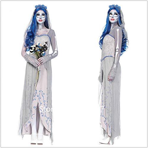 Masquerade Kleid Ideen - GBYAY Halloween Scary Bride Kleid Prinzessin