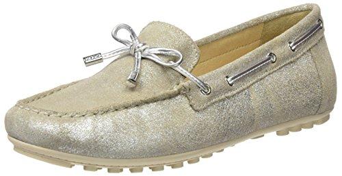 Geox D Leelyan A, Mocassins (Loafers) Femme Argent (Silver)
