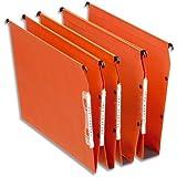 Esselte Lot de 25 Dossiers Suspendus Armoires Dual Fond 15 mm - Kraft Orange