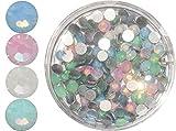 1A-QUALITÄT: Straßsteine in Döschen ca.100 Stück, Größe: ss8 (ca.2,3-2,5mm) ~PASTELL OPAL-MIX~