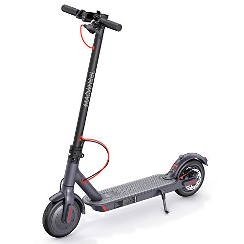Macwheel Electric Scooter, Foldable 350W Electric Scooter end speed 25km / h, Battery Long Range 30km, Solid tires 8.5 Anti-inch punctures airless inner foam