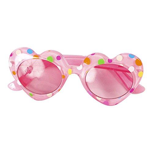 (Rosa Herzen Sonnenbrille Mädchen für Kinder - UV400 Sonnenbrille Kinder - Lucy Locket)