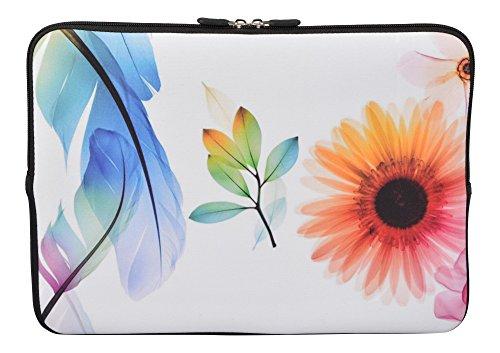 MySleeveDesign Laptoptasche Notebooktasche Sleeve für 10,2 Zoll / 11,6-12,1 Zoll / 13,3 Zoll / 14 Zoll / 15,6 Zoll / 17,3 Zoll - Neopren Schutzhülle mit VERSCH. DESIGNS - Sunflower [13]