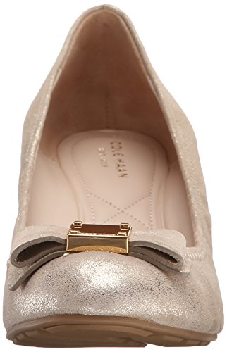 Pompe Cole Haan Tali Grand-Bow Wedge CH Gold/Metallic Suede