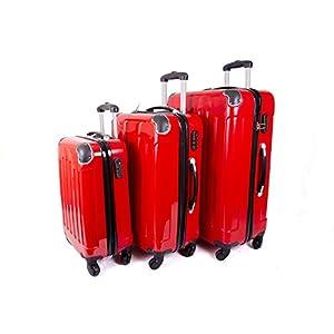Aero Travel – Juego de maletas rojo Red