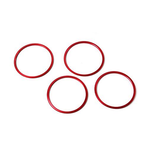 4 Rot Klimaanlage Vent Outlet Ring Verkleidung für V-Klasse Baureihe 447 2014-2018 (passt nicht zum Vito) Iso Trim Ring