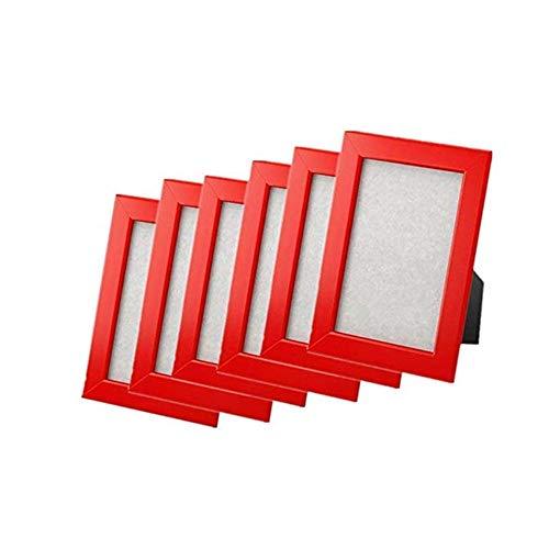 neuen Rahmen Foto Bild 5x 7oder 4x 6Multicolor fiskbo, Set von 6, holz, rot, 5 x 7