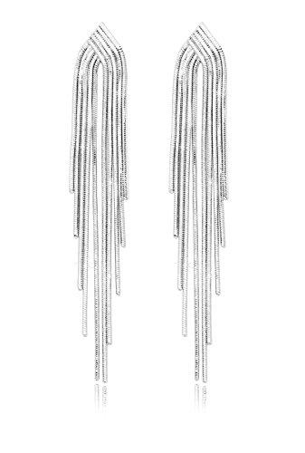 KristLand - S925 Plata Esterlina Cadena Mujer Pendientes