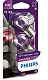 Philips 12498VPB2 VisionPlus P21W Signallampe 12498VPB2, 2er Blister