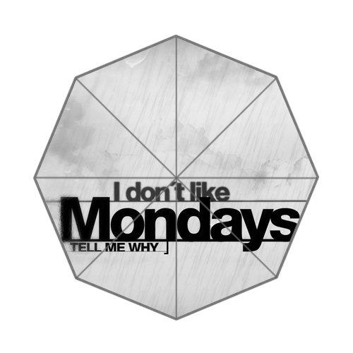 Motto Zitat Worte sagen Hate Mondays Sage, faltbar Regenschirm (Das Sage Wort)
