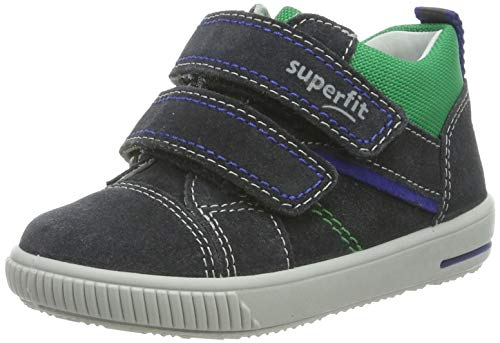 Superfit Baby Jungen Moppy Sneaker, Grau (Grau 20), 21 EU