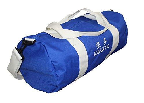 Rollentasche bestickt mit Aikdo, Judo, Karate oder Taekwondo, Farbe royalblau/weiss Karate