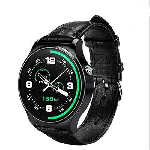 LCDIEB Sportuhr Smart Watch Schlafmonitor Sitzender Schrittzähler Message Sync Call Smartphone für Android IOS, schwarz Mobile Call Recorder