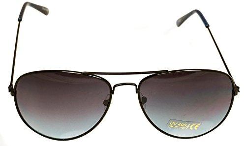 Klassische Pilotenbrille Unisex Sonnenbrille Fliegerbrille Pornobrille in vielen Farbkombinationen (64311)
