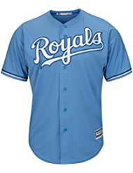 Majestic kansas city royals maillot alternatif mLB cool base-bleu