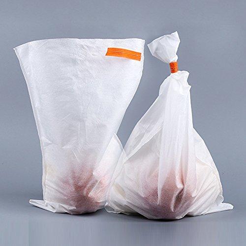 50 bolsas de productos reutilizables, bolsas de malla de jardín lavables de alta calidad para la compra de alimentos, almacenamiento de frutas y verduras, blanco, 25 * 32cm