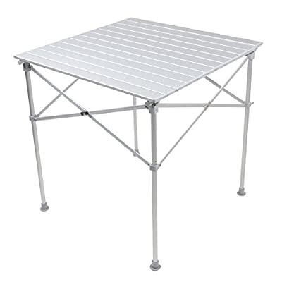 Square Folding Portable Aluminium Camping Picnic Outdoor Dining Table 70x70x72cm - inexpensive UK dining table shop.
