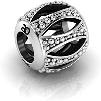 Abalorio charm estilo Pandora, plata de 925. Compatible con todas las marcas de pulseras (Pandora, Chamilia, Thomas Sabo,..)
