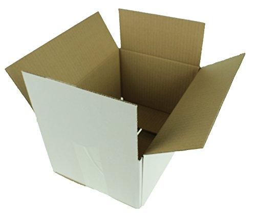 Faltkarton Versandkartons Karton Weiss 50 Stuck 270x190x140mm Neu