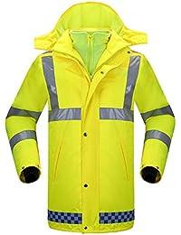 e52a5e23fe290f ChenYongPing Warnschutzjacke Wasserdichte Jacken Reflektierende Regenjacke  Straßenverkehr Sicherheit Warnung Outdoor Regenmantel Hose Anzug Männer und  ...
