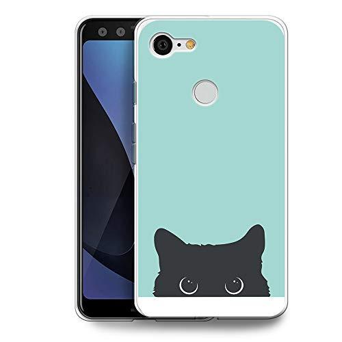 HelloGiftify BC Series Schutzhülle, Google Pixel 3, BC13 Tiffany Blue & Cat