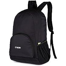 mochila para senderismo, 25 l, Ultra ligera, impermeable, para hombres y mujeres, práctica, plegable, para ciclismo, Camping, Deportes al aire libre, etc., negro