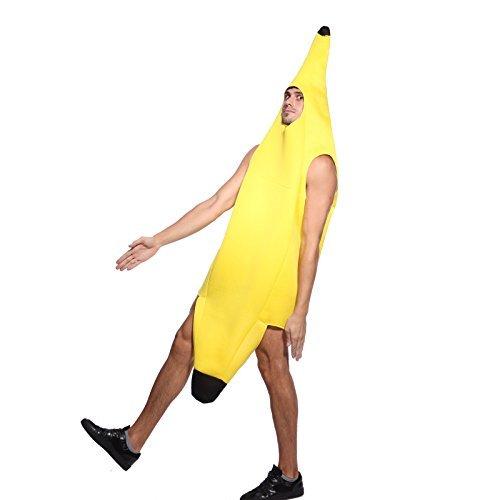Bananenkostüm Bananenanzug Karnevalskostüm