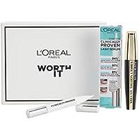 L'Oreal Paris Make-up Designer Kit Serum de Pestañas Clinically Proven y Máscara de Pestañas Volumen Million de Pestañas Extra Negro
