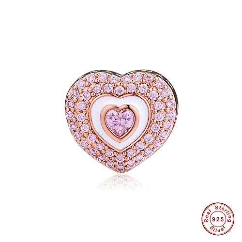 MOCCI 2019 Muttertagsgeschenk Rose Hearts on Hearts Bead 925 Silber DIY Passend für Original Pandora Armbänder Charm Fashion Jewelry