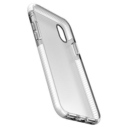 iPhone X Handycover, MOONMINI für iPhone X Transparent Weiche TPU Silikon Cover Hybrid Frame Ultra dünn Premium Bruchsicher Anti-Kratzer Schutzschale Anti-Drop Back Hülle Rosa Orange