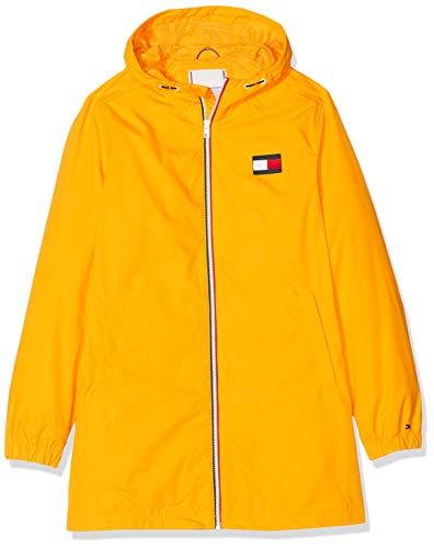 Tommy Hilfiger Tommy Hooded Parka Abrigo, Amarillo Radiant Yellow 720, 164 Talla del Fabricante...