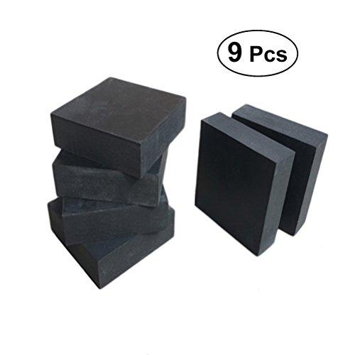 OUNONA 9 stücke Schwarz Topf Füße Gummi Stoßdämpfung Schutz Tisch Möbel Kissen Pads Buffering Blöcke