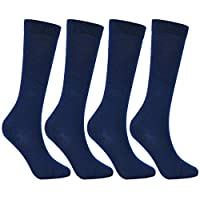 Laulax 3 Pairs Finest Combed Cotton Girls School Knee High Socks (3-16 Years), Gift Set
