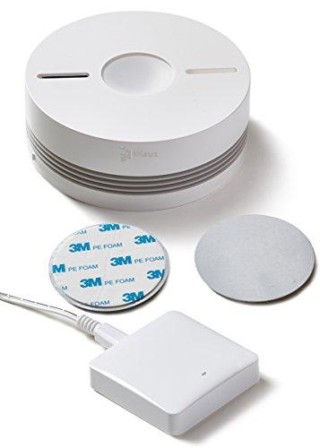 Rauchmelder 1ER Set - Funk Vernetzbar + Dual Version + WLAN Gateway + Magnethalterung + Lithium 10...