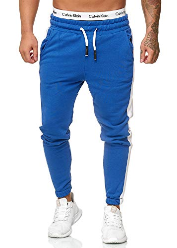 OneRedox Herren Jogging Hose Jogger Streetwear Sporthose Modell 1211 (XXL, Blau)