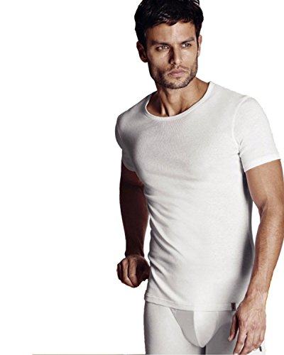 FILA - FILA Underwear - Pack da 2 pezzi - Maglia girocollo in cotone (46058) - XL, Nero