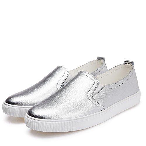 Yinew Damen Mokassins Schuhe Faul Schuhe Flache Casual Schuhe Leder Schuhe Musik Schuhe für Damen Frauen Mädchen