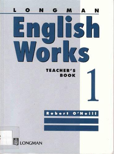 Longman English Works Teacher's Book Level 1: Teachers' Bk. 1