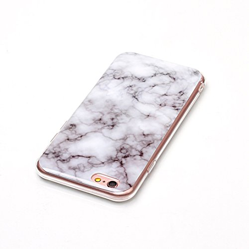Pheant® Apple iPhone 6/6S (4.7 pouces) Coque Gel Étui Souple Housse de Protection Bord Transparent Cas étui en TPU Silicone Motif de Marbre Couleur-05