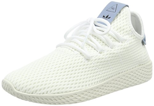 adidas Herren PW Tennis HU Gymnastikschuhe, Weiß (FTWR White/Tactile Blue S17), 37 1/3 EU