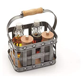 18.42/x 18.42/x 26.04/cm Noir EN ACIER TableCraft Versa condiment Rack