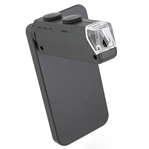 60 x-100 x Zoom LED Vergrößerung Mikroskop-Objektiv für Apple iPhone 5/5S/5 C mit Schwarz Back cover
